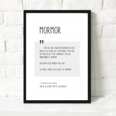 Mormor, Personlig plakat