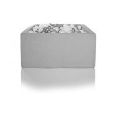 Boldbassin firkant 100x100x40 cm, lysegrå