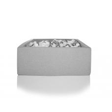 Boldbassin firkant 90x90x40, lysegrå