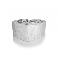 Boldbassin hjerte 100x40 cm, marmor
