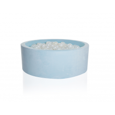 Boldbassin rund 90x30 cm, baby blå
