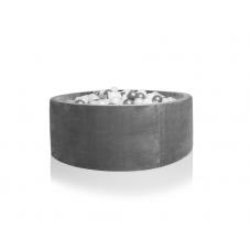 Boldbassin rund 90x40 cm, grå velvet