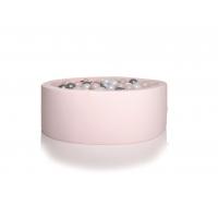 Boldbassin rund 100x30 cm, lys pink