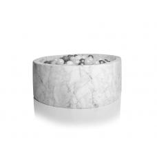 Boldbassin rund 100x30 cm, marmor