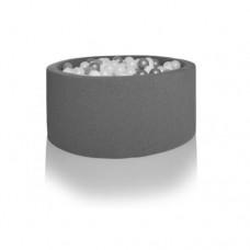Boldbassin rund 90x40 cm, grå