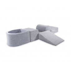 Rutchebane & boldbassin - Lite Play System, grå