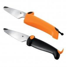 Kinderkitchen knivsæt til børn, 2 dele - børnekniv, orange/sort