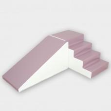 Noah XL med skridsikker bund, Rutschesæt pastel violet/hvid