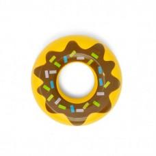 Donut m. brun glasur