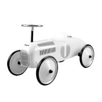 Gåbil, classic racer - hvid