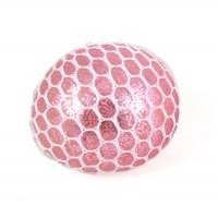 Klemmebold med glimmer og lys, lyserød