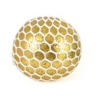 Klemmebold med glimmer og lys, guld
