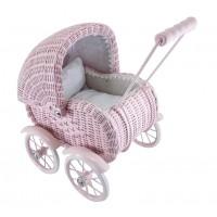 Lille dukkevogn, kurveflet - støvet pink