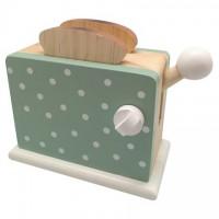 Toaster, grøn m. prikker