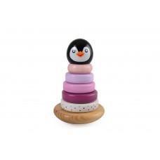 Pingvin Stabel - lyserød