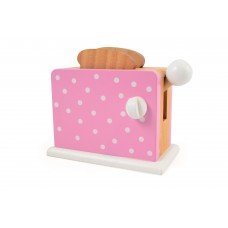 Toaster, pink m. prikker
