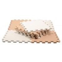 Skumlegegulv - hvid og sand (10 stk)