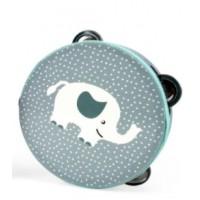 Tamburin med dyremotiv - Elefant