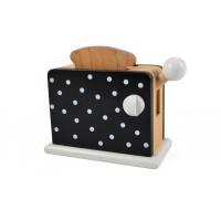 Toaster, sorte med prikker