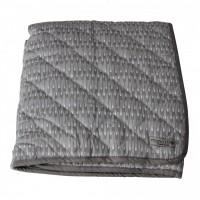 Quilt tæppe, grå