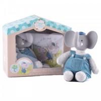 Meiya & Alvin - Bamse Mini Alvin med gummihoved og bog