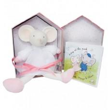 Meiya & Alvin - Bamse Mini Meiya med gummihoved og bog