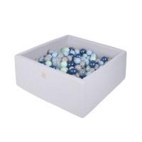 Boldbassin firkant 90x90x40 cm - blue lagoon (300 bolde)