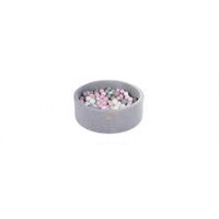 Boldbassin rund 90x30 cm - light grey, fløjl (200 bolde)