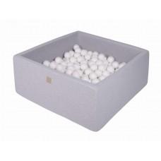 Boldbassin firkant 90x90x40 cm - light grey (200 bolde)