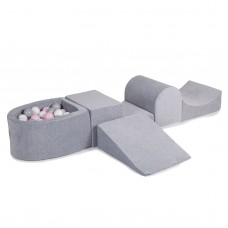 Legesæt med boldbassin - light grey (100 bolde)