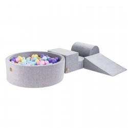Legesæt med boldbassin - light grey (200 bolde)