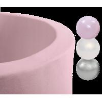Boldbassin med 150 bolde - pink, girlish (90x30x4cm)