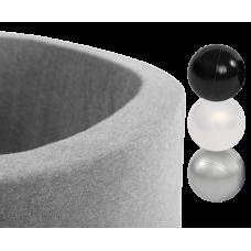 Boldbassin med 150 bolde - light grey, neutral (90x30x4cm)