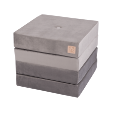 Foldemadras - grey, velvet (200x50x10cm)