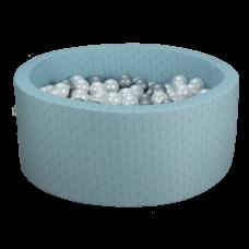 Boldbassin - mint, geometry (90x40x5cm)