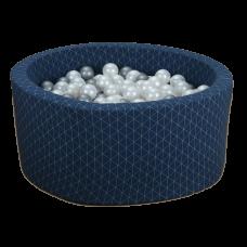 Boldbassin - navy blue, geometry (90x40x5cm)
