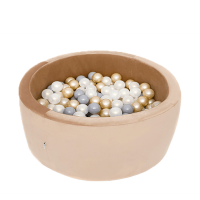 Boldbassin med 150 bolde - gold, velvet (90x30x5cm)