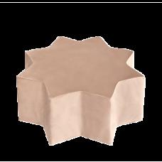 Puf stjerne - gold, velvet (40x30cm)