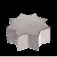 Puf stjerne - grey, velvet (40x30cm)
