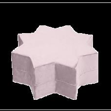 Puf stjerne - lila, velvet (40x30cm)
