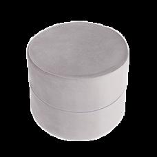 Puf rund - grey, velvet (40x30cm)