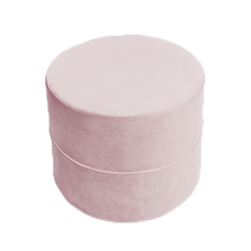 Puf rund - lila, velvet (40x30cm)