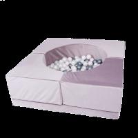 Sofapool - lila, velvet (120x120x50cm)