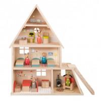 Dukkehus med møbler
