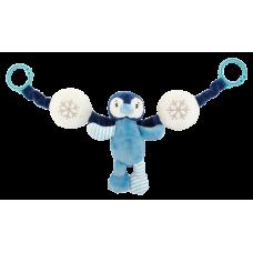Barnevognskæde - blå pingvin