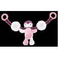 Barnevognskæde - lyserød pingvin