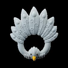 Bidering, påfugl - Lyseblå
