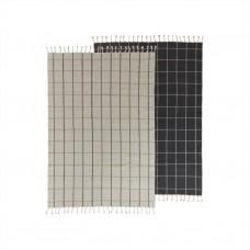 Gitter mønstret tæppe