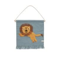 Vægtæppe, springende løve
