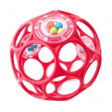 Oball rattle rund - pink